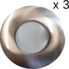 Roestvrijstalen Verlichtingsset Sanimex Njoy 3 LED Spots 8x8 cm IP65 RVS Look