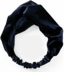 Marineblauwe Jumalu velvet haarband Navy blauw hoofdband - diameter 19