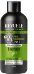 Revuele Charcoal & groen Tea 2in1 Shampoo with Conditioner For Men 300ml.