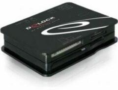 Zwarte DeLOCK USB 2.0 CardReader All in 1 (Retail, 91471)