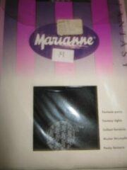 Witte Marianne Fantasy panty zwart M