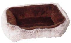 Bruine Divan Sofa Knaagdier Soft Bruin 30x20 cm