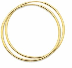 Goudkleurige SPARKLE14 The Jewelry Collection oorringen Ronde Buis - Goud (14 Krt.) - 44 mm