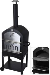 Nampook Maxx Pizza oven - Smoker barbecue houtskool 45 x 65 x 158cm