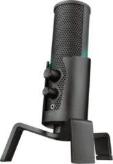 Zwarte Trust GXT 258 Fyru - Premium Streaming Microfoon met 4 opnamepatronen - LED verlichting en USB aansluiting