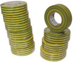 Nitto - Isolatietape - Groen/geel - 19 mm X 10 M - (10 st.) [1040-VJPC]