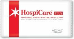 Rode Wet-Nap Hospicare verfrissingsdoekjes met anti-bacteriële werking 100 stuks