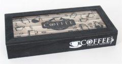 Merkloos / Sans marque Bewaardoos/opbergbox voor koffiecup/coffie capsules - 35 x 6 x 17 cm - Koffie cups/capsules opbergdozen