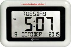 GEEMARC VISO10 digitale JUMBO kalender klok met onverkorte dag / datum / tijdweergave - Wit