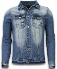 Tony Backer Spijkerjasje - Spijkerjasje Heren Denim Jacket - Stonewashed Look - Blauw SpijkerJas Heren Spijkerjas Maat XL