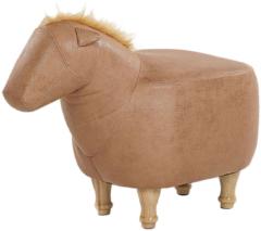 Beliani Hocker leather-look zandbeige HORSE