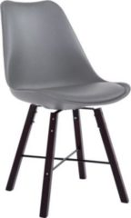 CLP Retrostuhl LAFFONT mit Kunstlederbezug und hochwertiger Polsterung I Lehnstuhl mit robustem Holzgestell I In verschiedenen Farben erhältlich