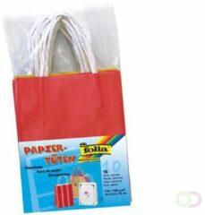 Folia papieren kraft zak, 110-125 g/m², geassorteerde kleuren, pak van 10 stuks