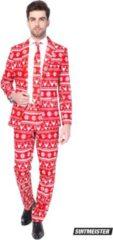 Opposuits Suitmeister Christmas Red Nordic- Kostuum - Maat - S