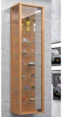 Wandvitrine Sammelvitrine Glasvitrine Wand Vitrine Regal Schrank Glas Hängevitrine 'Stano Maxi' VCM Mit LED: Buche