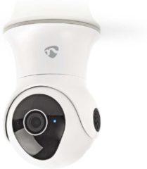 Witte Nedis WIFICO20CWT Slimme WiFi waterbestendige IP-buitencamera met Pan/Tilt/Zoom (Full-HD 1080p, PTZ)