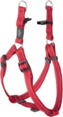 Rode Rogz For Dogs Lumberjack Step-In Hondentuig - 25 mm x 67-103 cm - Rood