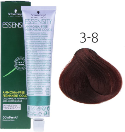 Afbeelding van Rode Schwarzkopf Professional Schwarzkopf - Essensity - Color - 3-8 Donkerbruin Rood - 60 ml