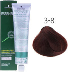 Rode Schwarzkopf Professional Schwarzkopf - Essensity - Color - 3-8 Donkerbruin Rood - 60 ml