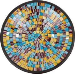 Fairtrade uit Indonesie Kom Mozaïek Bruin-Multicolor (36 cm)