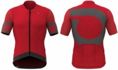 Rode Briko Granfondo Jersey Red-Brown fango - Maat XL