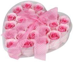 Herzbox mit Schleife Rose 24 x 4 g