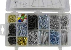 JBM Tools | Set van blindklinknagels / Schroeven / Punaises etc.. 1000-Delig