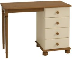 Creme witte DS Style Bureau Rich 100 cm breed in creme