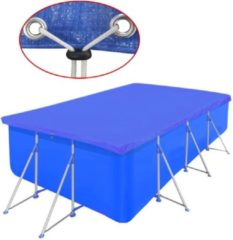 VidaXL Zwembadhoes PE Rechthoek 394 x 207 cm (Blauw)