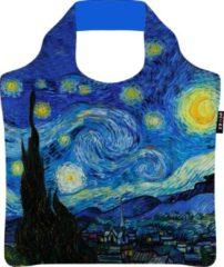 Blauwe Ecozz 100% rPet Ecoshopper De Sterrennacht - Vincent van Gogh