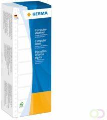 Herma 8211 Etiketten (eindeloos) 88.9 x 35.7 mm Papier Wit 4000 stuks Permanent Universele etiketten Matrix/naald