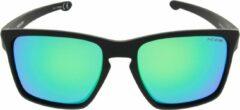 ICON Sport Zonnebril PREDATOR - Mat zwart montuur - Groen / blauw spiegelende glazen - GEPOLARISEERD (p)