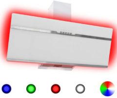 VidaXL Afzuigkap RGB-LED 90 cm roestvrij staal en gehard glas