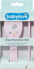 Roze Babylove Babyborstel - Borstelset zwaan - set van 2