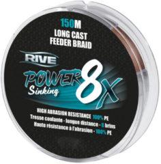 Rive Power Sinking Feeder Braid - Bruin - 8x 0.20mm - 150m - Bruin