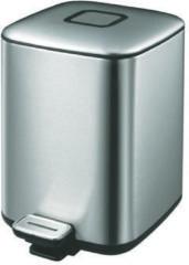 Zilveren EKO Regent Step Bin pedaalemmer - 6 l - mat RVS