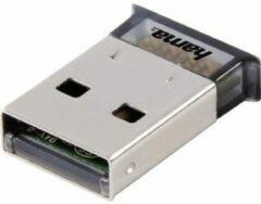 Grijze Hama Bluetooth USB v4.0 + EDR Bluetooth 3Mbit/s netwerkkaart & -adapter