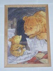 De K van Kinderen Houten framepuzzel prentenboek welterusten kleine beer