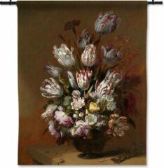 53 Graden Noord Wandkleed Stilleven met bloemen - Hans Bollongier - 90x120 cm
