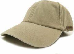 Zandkleurige Vintage Pet Zand - Crème Baseball Cap - Wakefield Caps - Petten