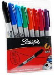 Rode Sharpie S0814660 Zwart, Blauw, Groen, Paars, Rood, Geel 8stuk(s) permanente marker