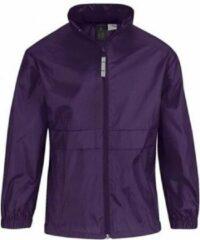 Bc Regenkleding voor jongens/meisjes paars - Sirocco windjas/regenjas voor kinderen 9-11 jaar (134/146) paars