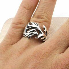 Zijou Zilveren heren ring tribaal design - 18.75 mm / maat 59