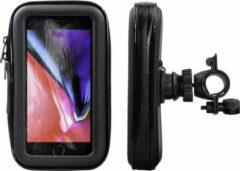 Zwarte Shop4 telefoonhouder fiets - Apple iPhone 8 - Waterdicht