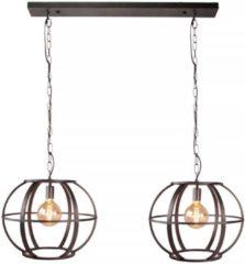 Freelight Hanglamp Elara 2 lichts L 125 cm B 48 cm zwart