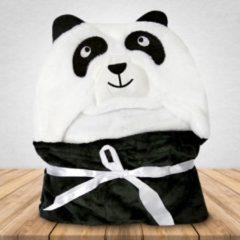 Zwarte Babydeken Panda - Wikkeldeken & Badcape - 100 x 70 cm - Kraamcadeau - Comfy Capes