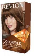 Bruine Revlon ColorSilk Permanent Hair Colour - 43 Medium Golden Brown