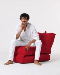 Xoft Living Lounger Linnen Zitzak - Rood