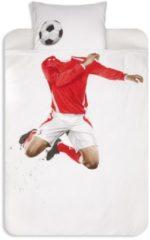 Rode Snurk Soccer dekbedovertrekset van katoen perkal 160TC - inclusief kussenslopen