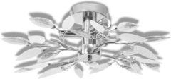 Witte VidaXL Plafondlamp acryl kristal blaadjes 3 x E14 lampen (wit en transparant)